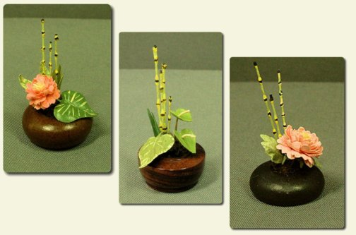 CDHM artisan and IGMA Fellow Era Anderson Pearce of Pearce Miniatures, Bird of paradise, dollhouse miniature flowers, plants and trees in 1:12 scale